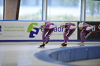 SCHAATSEN: LEEUWARDEN: 21-09-2015, Elfstedenhal, Thomas Krol, Stefan Groothuis, Pim Schipper, ©foto Martin de Jong