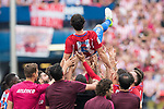 Tiago Cardoso Mendes of Atletico de Madrid and his teammates celebrate their win after their La Liga match between Atletico de Madrid vs Athletic de Bilbao at the Estadio Vicente Calderon on 21 May 2017 in Madrid, Spain. Photo by Diego Gonzalez Souto / Power Sport Images