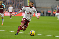 Aaron Lennon of Burnley  during West Ham United vs Burnley, Premier League Football at The London Stadium on 10th March 2018
