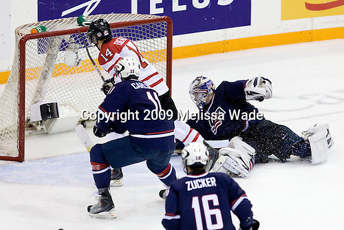 John Carlson (USA - 11), Jordan Eberle (Canada - 14), Jack Campbell (USA - 1) - Team Canada defeated Team USA 5-4 (SO) on Thursday, December 31, 2009, at the Credit Union Centre in Saskatoon, Saskatchewan, during the 2010 World Juniors tournament.