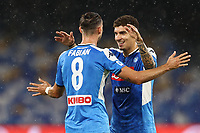 Fabian Ruiz of SSC Napoli \celebrates with team mates after scoring a goal<br /> during the Serie A football match between SSC  Napoli and SS Lazio at stadio San Paolo in Naples ( Italy ), August 01st, 2020. Play resumes behind closed doors following the outbreak of the coronavirus disease. <br /> Photo Cesare Purini / Insidefoto