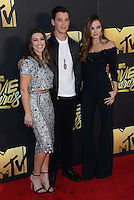 Miles Teller + sister Dana Teller + Keleigh Sperry @ the 2016 MTV Movie Awards held @ the Warner studios.<br /> April 9, 2016