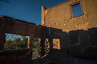 Construccion antigua de adobe deteriorado.<br /> Rancho eco tur&iacute;stico El Pe&ntilde;asco en el pueblo Magdalena de Kino. Magdalena Sonora. <br /> &copy;Foto: LuisGutierrrez/NortePhoto