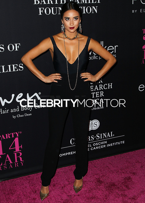 SANTA MONICA, CA, USA - OCTOBER 18: Shay Mitchell arrives at Elyse Walker's 10th Annual Pink Party held at Santa Monica Airport HANGAR:8 on October 18, 2014 in Santa Monica, California, United States. (Photo by Celebrity Monitor)