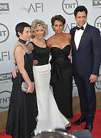 Jane Fonda &amp; daughter Vanessa Vadim (left), son Troy Garity &amp; his wife Simone Bent at the 2014 American Film Institute's Life Achievement Awards honoring Jane Fonda, at the Dolby Theatre, Hollywood.<br /> June 5, 2014  Los Angeles, CA<br /> Picture: Paul Smith / Featureflash