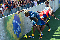 PRAIA GRANDE, SP, 08.07.2017 - NEYMAR-JR - Neymar Jr jogador brasileiro do Barcelona È visto durante evento Jr's Five no Instituto Neymar Jr. na Praia Grande litoral paulista neste s·bado, 08. (Foto: Eduardo Martins/Brazil Photo Press)