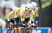 Maarten Tjallingii (NLD/LottoNL-Jumbo) taking his turn at the front<br /> <br /> Elite Men&rsquo;s Team Time Trial<br /> UCI Road World Championships Richmond 2015 / USA