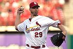 June 18, 2010       St. Louis Cardinals starting pitcher Chris Carpenter (29) throws in the first inning.  The St. Louis Cardinals defeated the Oakland Athletics 6-4 in the first game of a three-game homestand at Busch Stadium in downtown St. Louis, MO on Friday June 18, 2010.