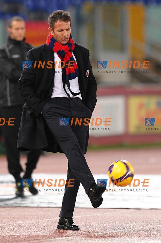 """Bologna coach Sinisa Mihaijlovic<br /> L'allenatore del Bologna Sinisa Mihaijlovic<br /> Roma 17/12/2008 Stadio """"Olimpico"""" <br /> Coppa Italia 2008/2009<br /> Roma Bologna (2-0)<br /> Foto Andrea Staccioli Insidefoto"""