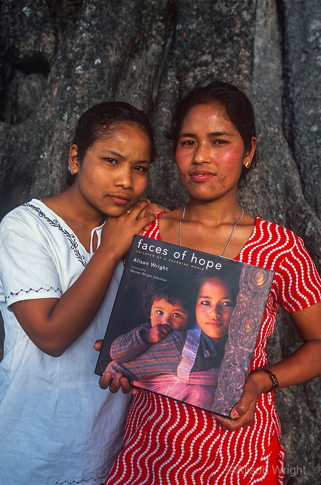 Sisters Katamari (18) and Sihaile (25) on cover of Faces of Hope.