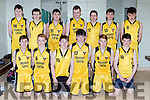 The Glenbeigh Falcons team that played Killarney Cougars  in the Kery basketball finals in Killarney on Saturday front row l-r: Rian O'Donovan, Sean Sheahan, Ethan Falvey, Tommy Quirke, Cian Knight and Tadhg O'Shea. Back row: Liam Smith, Sean Paige, Keith Sheahan, Luke O'Connor, Jason Clifford, Liam Roche, Darragh McKeefry