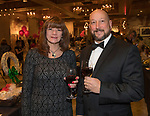 Kathy and Larry Gibbs during the Step 2 Jingle & Mingle held at the Whitney Peak Hotel on Friday night, December 1, 2017.