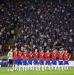 FUDBAL, BEOGRAD, 10.10.2009. -   Minut cutanja. Fudbalska reprezentacija Srbije u pretposlednjem kolu kvalifikacija za Svetsko prvenstvo 2010. godine u Juznoj Africi pobedila je Rumuniju rezultatom 5:0. Foto: Nenad Negovanovic - Sportska centrala
