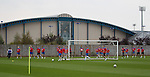 Rangers back training at Murray Park after the aborted team pic at Ibrox last Friday