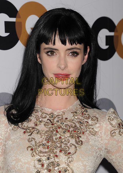Krysten Ritter.Arriving at the GQ Men Of The Year Party at Chateau Marmont Hotel in Los Angeles, California, USA..November 13th, 2012.headshot portrait white cream lace embellished jewel encrusted top .CAP/ROT/TM.©Tony Michaels/Roth Stock/Capital Pictures