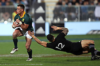 Jesse Kriel during the Rugby Championship match between the New Zealand All Blacks and South Africa Springboks at QBE Stadium in Albany, Auckland, New Zealand on Saturday, 16 September 2017. Photo: Shane Wenzlick / lintottphoto.co.nz