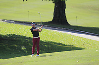 Alexander Bjork (SWE) in action on the 18th during Round 1 of the Maybank Championship at the Saujana Golf and Country Club in Kuala Lumpur on Thursday 1st February 2018.<br /> Picture:  Thos Caffrey / www.golffile.ie<br /> <br /> All photo usage must carry mandatory copyright credit (© Golffile | Thos Caffrey)