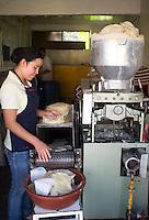 Tortilla machine in Tlayacapan, Morelos, Mexico