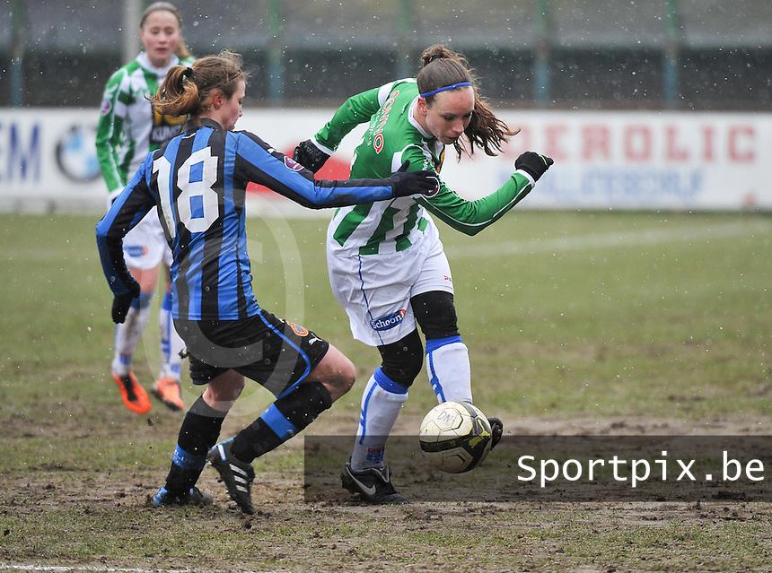 Club Brugge Dames - PEC Zwolle : Kelly Gilissen .foto DAVID CATRY / Vrouwenteam.be