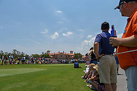 A large gallery hurds around the number 1 tee box during round 1 of The Players Championship, TPC Sawgrass, at Ponte Vedra, Florida, USA. 5/10/2018.<br /> Picture: Golffile | Ken Murray<br /> <br /> <br /> All photo usage must carry mandatory copyright credit (&copy; Golffile | Ken Murray)