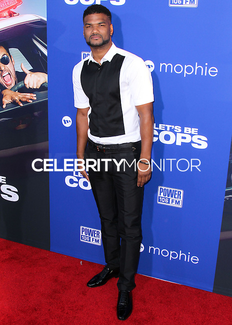 """HOLLYWOOD, LOS ANGELES, CA, USA - AUGUST 07: Damien Wayans at the Los Angeles Premiere Of 20th Century Fox's """"Let's Be Cops"""" held at ArcLight Cinemas Cinerama Dome on August 7, 2014 in Hollywood, Los Angeles, California, United States. (Photo by Xavier Collin/Celebrity Monitor)"""