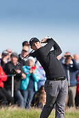 6th October 2017, Carnoustie Golf Links, Carnoustie, Scotland; Alfred Dunhill Links Championship, second round; Rory McIlroy, of Northern Ireland, tees off on the fourth hole during the second round on the Championship Links, Carnoustie at the Alfred Dunhill Links Championship