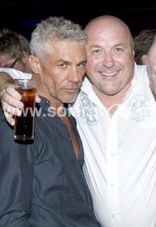 **ALL ROUND PICTURES FROM SOLARPIX.COM**.**WORLDWIDE SYNDICATION RIGHTS**.Lee Richard Ward, wealthy son of multi-millionaire Charlie Ward, was killed after crashing his white Lamborghini close to Marbella, on the Costa del Sol this week..This pic:  Lee Ward's father Charlie Ward and Wayne Lineker.FULL STORY FROM GERARD COUZENS - +34 659 567 821.JOB REF:   8783     JGS        DATE:  08.04.09.**MUST CREDIT SOLARPIX.COM OR DOUBLE FEE WILL BE CHARGED**.**ONLINE USAGE FEE GBP 50.00 PER PICTURE - NOTIFICATION OF USAGE TO PHOTO @ SOLARPIX.COM**.**CALL SOLARPIX : +34 952 811 768 or LOW RATE FROM UK 0844 617 7637**