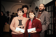 New York City, USA - March 4, 1986. This photograph of Judit Polgár with her family was taken at an international chess competition, held in NY. Judit Plogár (born July 23, 1976) is a Hungarian chess grandmaster, who is currently ranked 36th in world.