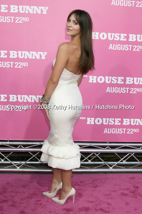 "Katharine McPhee   on the red carpet arrivimg at the premiere of ""House Bunny"" at the Mann's Village Theater in Westwood, CA on.August 20, 2008.©2008 Kathy Hutchins / Hutchins Photo...."
