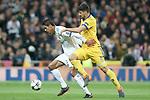 Real Madrid's Raphael Varane (l) and Juventus Football Club's Sami Khedira during Champions League Quarter-Finals 2nd leg match. April 11,2018. (ALTERPHOTOS/Acero)