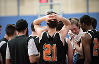 #21 Caleb Yellin-Flaherty<br /> The Occidental College men's basketball team plays against Pomona-Pitzer in the SCIAC Tournament Championship on Saturday, Feb. 23, 2019 in Claremont. Oxy lost, 68-45.<br /> Oxy finishes with its best overall record since 2007-08 at 22-5 overall, and went 12-4 in SCIAC play for the second season in a row.<br /> (Photo by Marc Campos, Occidental College Photographer)