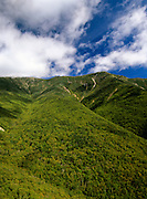Appalachian Trail....Scenic views of Franconia Ridge from Old Bridal Path. Located in Franconia Notch, which is in the White Mountain National Forest of New Hampshire, USA.