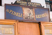 """Europe/France/Rhône-Alpes/73/Savoie/Chambéry: Patisserie """"Au Fidèle berger"""" 15 rue De Boigne. Détail de l'enseigne"""