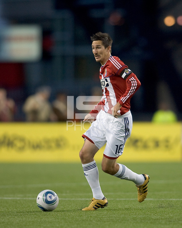 Chivas USA midfielder Sacha Kljestan (16) at midfield. Chivas USA defeated the New England Revolution, 4-0, at Gillette Stadium on May 5, 2010.