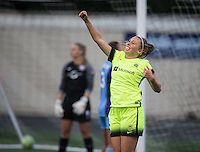 Seattle, WA - Saturday July 23, 2016: Lindsay Elston during a regular season National Women's Soccer League (NWSL) match between the Seattle Reign FC and the Orlando Pride at Memorial Stadium.
