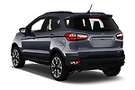 Car pictures of rear three quarter view of a 2019 Ford EcoSport SES 5 Door SUV angular rear