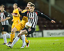 PARS ANDY KIRK HOLDS OFF MOTHERWELL'S NICKY LAW.