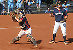 Coronado catcher Katie Cochran fields a bunt against Reed High School in the 4A softball state tournament at the University of Nevada, Reno on Friday, May 19, 2012. Coronado won 6-1 to advance to Saturday's championship game. .Photo by Cathleen Allison