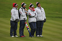 Some of the USA Team on the 17th during Day 2 Fourball at the Solheim Cup 2019, Gleneagles Golf CLub, Auchterarder, Perthshire, Scotland. 14/09/2019.<br /> Picture Thos Caffrey / Golffile.ie<br /> <br /> All photo usage must carry mandatory copyright credit (© Golffile | Thos Caffrey)