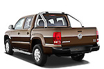 Rear three quarter view of a 2012 Volkswagen Amarok Trendline Truck