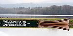 18-02-2014: A mirror image of a boat and a 'welcome' sign at Killarney Golf and Fishing Club on Tuesday morning. Eamonn Keogh (MacMonagle, Killarney)