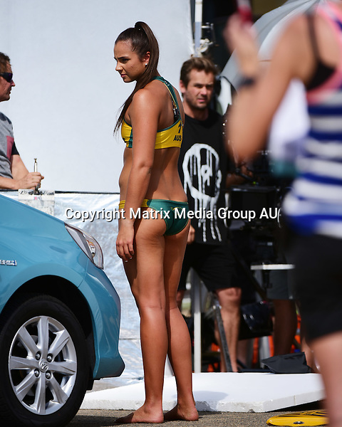 21st October, 2015 SYDNEY, AUSTRALIA<br /> <br />  EXCLUSIVE PICTURES<br /> <br /> Australian Rio 2016 Olympic Beach Volleyball players Nicole Laird and Mariafe Artacho del Solar shooting a TVC at Whale Beach, NSW for MyPlates who are putting out new sports related product.<br /> <br /> *ALL WEB USE MUST BE CLEARED*<br /> <br /> Please contact prior to use:  <br /> <br /> +61 2 9211-1088 or email images@matrixmediagroup.com.au <br /> <br /> Note: All editorial images subject to the following: For editorial use only. Additional clearance required for commercial, wireless, internet or promotional use.Images may not be altered or modified. Matrix Media Group makes no representations or warranties regarding names, trademarks or logos appearing in the images.