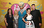 Kathy Valentine, Charlotte Caffey, Peppermint, Jane Wiedlin and Spencer Liff attends the Opening Night Performance of ''Head Over Heels' at the Hudson Theatre on July 26, 2018 in New York City.