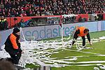 13.01.2018, BayArena, Leverkusen , GER, 1.FBL., Bayer 04 Leverkusen vs. FC Bayern M&uuml;nchen<br /> im Bild / picture shows: <br /> die Bayern Fans werfen it Papierrollen.. <br /> <br /> <br /> Foto &copy; nordphoto / Meuter