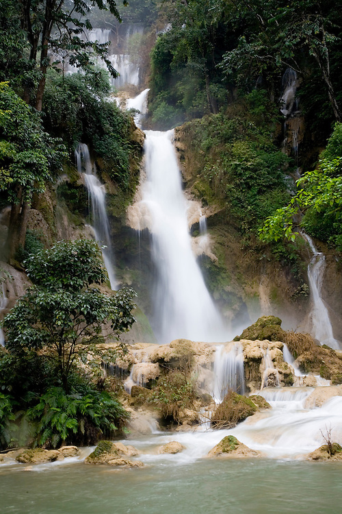 Jungle waterfalls at Kuang Si,Laos