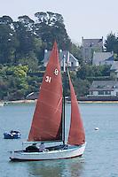 Europe/France/Bretagne/56/Morbihan/Golfe du Morbihan/Ile-Aux-Moines: Vieux grément  au Port du Lério