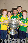 FAMILY: The Murnane were deleighted to hold the Sam Maguire Cup at Kilflynn NS on Wednesday. l-r: Darragh Murnane, Aoibhe and Aodha?n McKenna, Aaron and Sean Murnane...
