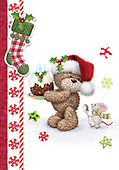 Sharon, CHRISTMAS ANIMALS, WEIHNACHTEN TIERE, NAVIDAD ANIMALES, GBSS, paintings+++++,GBSSC50XMCD,#XA#