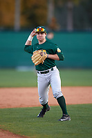 Siena Saints shortstop Max Goione (7) during practice before a game against the Stetson Hatters on February 23, 2016 at Melching Field at Conrad Park in DeLand, Florida.  Stetson defeated Siena 5-3.  (Mike Janes/Four Seam Images)