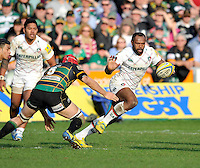 Northampton, England. Vereniki Goneva of Leicester Tigers in action during the Northampton Saints and Leicester Tigers  during the Aviva Premiership match at Franklin's Gardens, Northampton, England on March 29, 2014